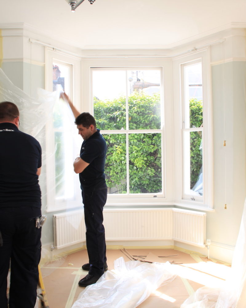 SW17 - Balham - Timber Sash Bay Installation